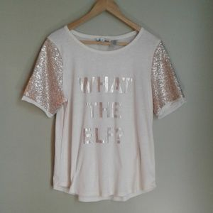 Twine & Star holiday short sleeve size xl top